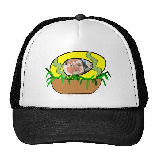 Custom Photo Easter Egg in Nest Template Trucker Hats