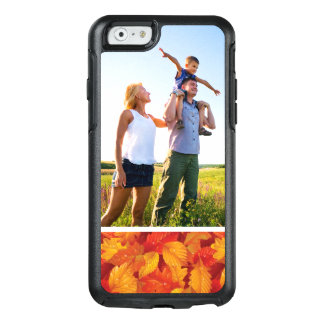 Custom Photo Fallen wet leaves background OtterBox iPhone 6/6s Case