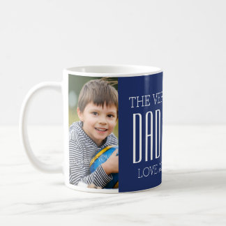 Custom Photo Father's Day Mug Blue