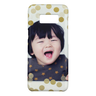 Custom Photo & Faux Gold Confetti Case-Mate Samsung Galaxy S8 Case