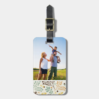 Custom Photo Floral Butterfly Pattern Bag Tags