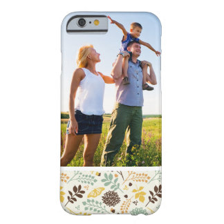 Custom Photo Floral Butterfly Pattern Barely There iPhone 6 Case