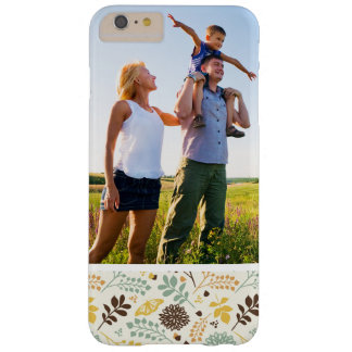 Custom Photo Floral Butterfly Pattern Barely There iPhone 6 Plus Case
