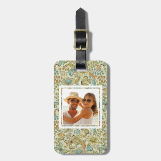 Custom Photo Floral flowers and butterflies Luggage Tags