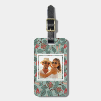 Custom Photo Floral Pattern 12 Luggage Tag