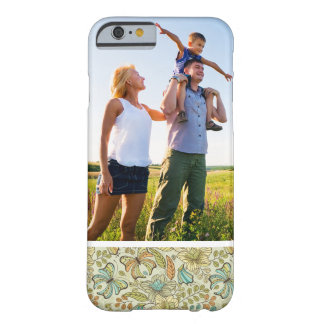 Custom Photo Floral Pattern With Butterflies Barely There iPhone 6 Case