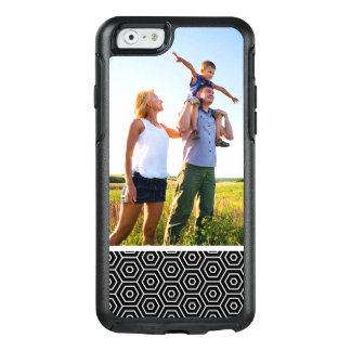 Custom Photo Hexagons texture geometric pattern OtterBox iPhone 6/6s Case