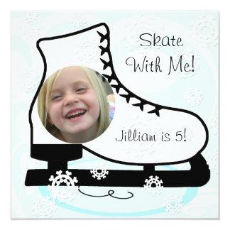 Custom Photo Ice Skating Birthday Invitations