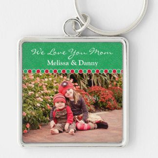 Custom Photo Large Premium Keychain