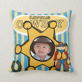 Custom Photo Little Cowboy Pillow