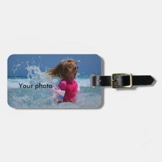 Custom Photo Luggage Tag