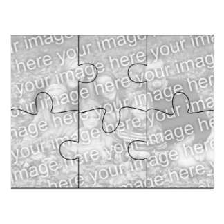 Custom Photo Mock Puzzle Post Card - 6 pieces