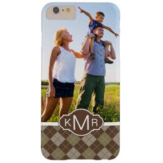 Custom Photo & Monogram Argyle Pattern Barely There iPhone 6 Plus Case