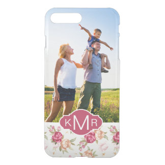 Custom Photo & Monogram Beautiful Peony Pattern iPhone 8 Plus/7 Plus Case