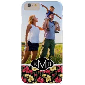 Custom Photo & Monogram Elegant floral pattern 2 Barely There iPhone 6 Plus Case