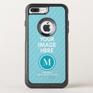 Custom Photo Monogram OtterBox Commuter iPhone 8 Plus/7 Plus Case