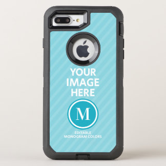 Custom Photo Monogram OtterBox Defender iPhone 8 Plus/7 Plus Case