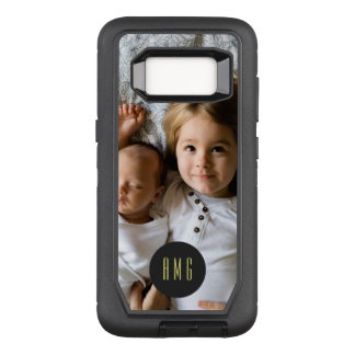 Custom Photo | Monogram OtterBox Defender Samsung Galaxy S8 Case