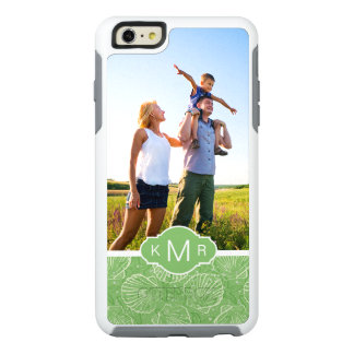 Custom Photo & Monogram Outline seashells OtterBox iPhone 6/6s Plus Case