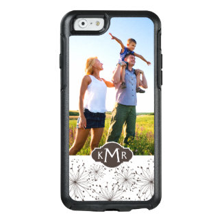 Custom Photo & Monogram Retro floral background OtterBox iPhone 6/6s Case
