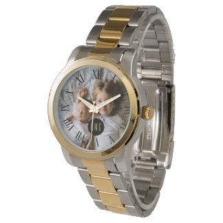 Custom Photo   Monogram   Roman Numerals Watch