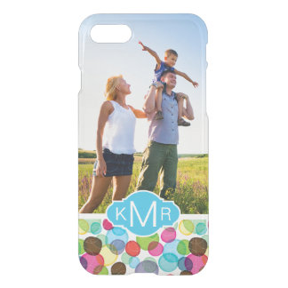 Custom Photo & Monogram Round bubbles pattern 2 iPhone 8/7 Case