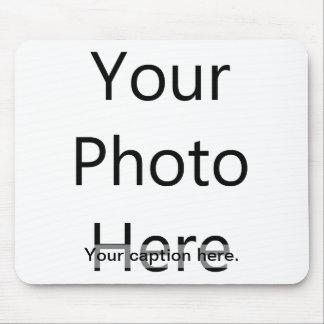 Custom Photo Mousepad with Caption (Black Text)