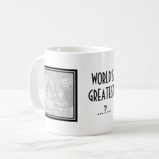 Custom photo mug with elegant border for mom & dad