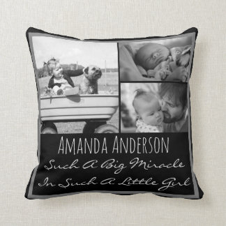 Custom photo name and quote cushion