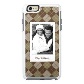 Custom Photo & Name Argyle Pattern OtterBox iPhone 6/6s Plus Case