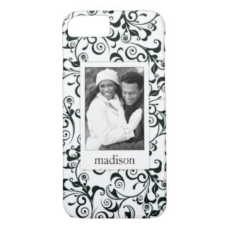 Custom Photo & Name Damask iPhone 8/7 Case