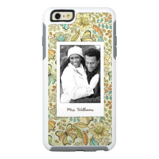 Custom Photo & Name Floral Butterfly Pattern OtterBox iPhone 6/6s Plus Case