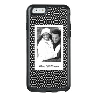 Custom Photo & Name Hexagonal geometric pattern OtterBox iPhone 6/6s Case