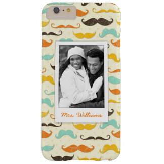 Custom Photo & Name Mustache pattern 3 Barely There iPhone 6 Plus Case