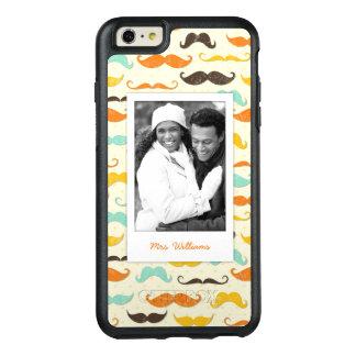 Custom Photo & Name Mustache pattern 3 OtterBox iPhone 6/6s Plus Case