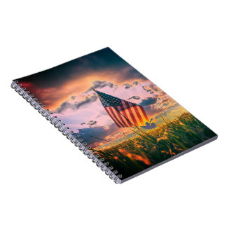Custom Photo Notebook (80 Pages) Patriotic Photo