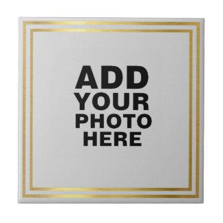 custom photo or artwork small square tile