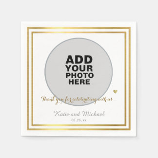 custom photo or graphics, wedding disposable serviette