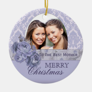Custom Photo Ornament Christmas Gift for Mother