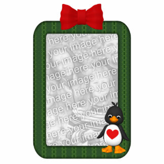 Custom Photo Ornament Penguin Photo Sculpture Decoration