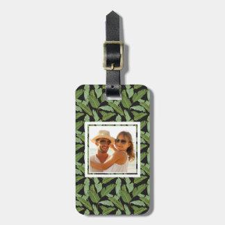 Custom Photo Palm Leaves Luggage Tag