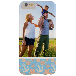 Custom Photo Pastel Nautical Pattern Barely There iPhone 6 Plus Case
