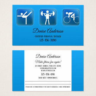 Custom Photo Personal Trainer Appointment Card