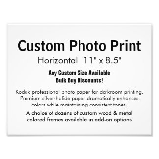 "Custom Photo Print - Horizontal 11"" x 8.5"""