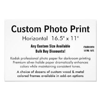 "Custom Photo Print - Horizontal 16.5"" x 11"""