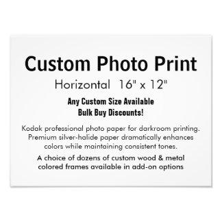 "Custom Photo Print - Horizontal 16"" x 12"""