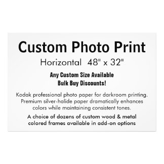 "Custom Photo Print - Horizontal 48"" x 32"""