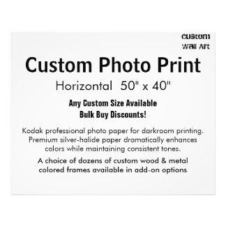 "Custom Photo Print - Horizontal 50"" x 40"""