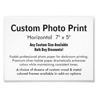 "Custom Photo Print - Horizontal 7"" x 5"""