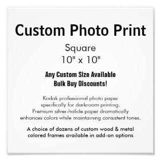 "Custom Photo Print - Square 10"" x 10"""